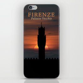 Graphic Silhouette Florence Poster iPhone Skin