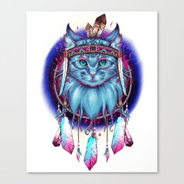 Dreamcatcher Cat Canvas Print