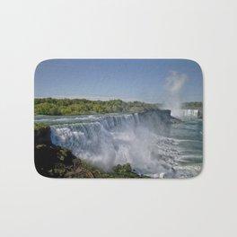 Panoramic View of Niagara and American Falls Bath Mat