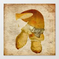 the mortal instruments Canvas Prints featuring Mortal mushroom by Ganech joe
