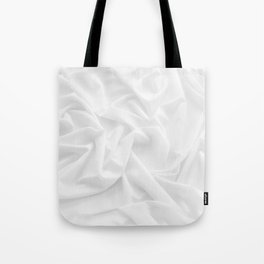 MINIMAL WHITE DRAPED TEXTILE Tote Bag