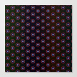Aqua Daisy Flower - Seemless Pattern Canvas Print