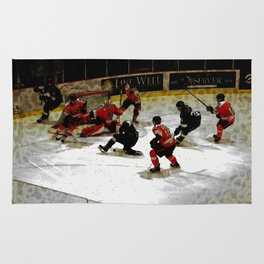 The End Zone - Ice Hockey Game Rug