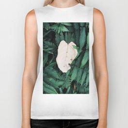 Nature Walk 001 - White Leaf Biker Tank