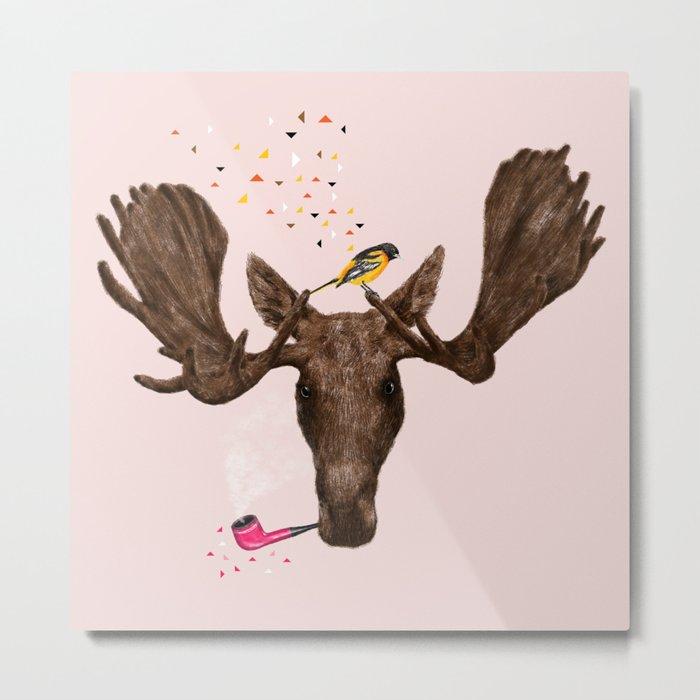 Moose II Metal Print