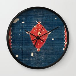 Balikesir  Antique Turkish Kilim Rug Print Wall Clock