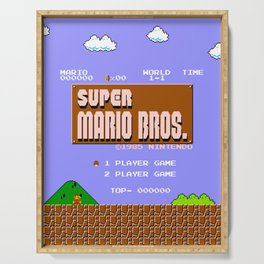 Super Mario Bros. (NES) Title Design Serving Tray