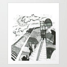 at night Art Print
