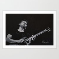 john mayer Art Prints featuring Grayscale John Mayer by Max Freund