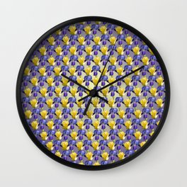 Tulip and Iris Wall Clock