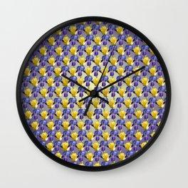 Tulip and Iris Wall Clock