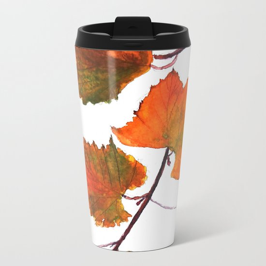 grapevine in autumn Metal Travel Mug