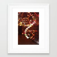 lanterns Framed Art Prints featuring Lanterns by Written In Threads