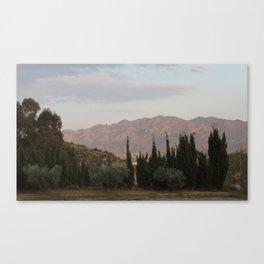 Simmering Sierra Canvas Print