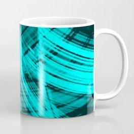 Sharp filaments of metallic aquamarine threads with the energy of magic Coffee Mug