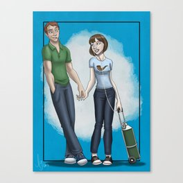 Hazel Grace and Mister Waters Canvas Print