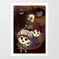 over the garden wall Art Prints featuring over the garden wall by Tae V