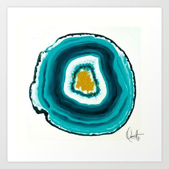 Agate Turquoise  Art Print