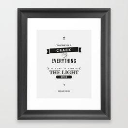 Leonard Cohen, Motivational Quote Framed Art Print