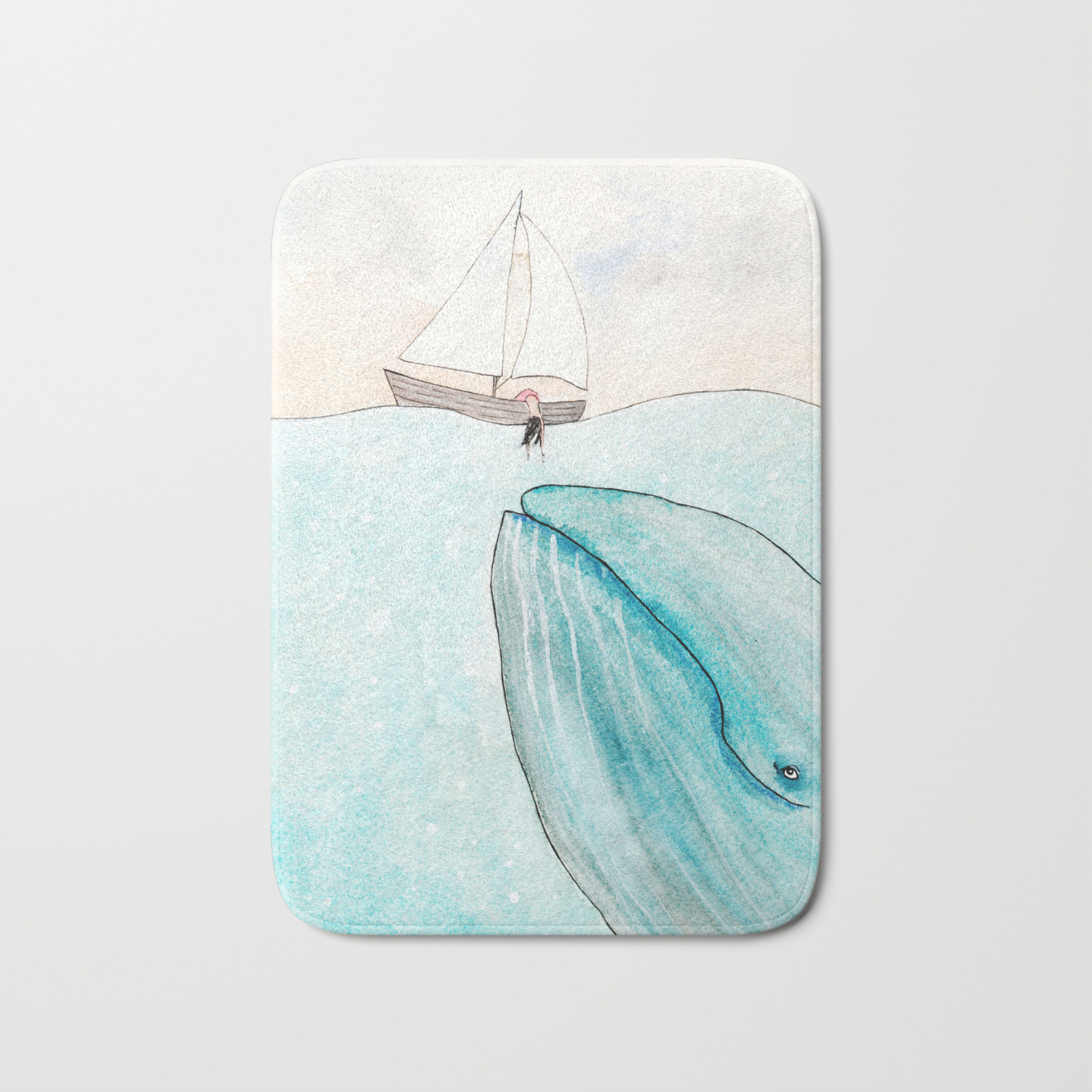 Whale watching Bath Mat by