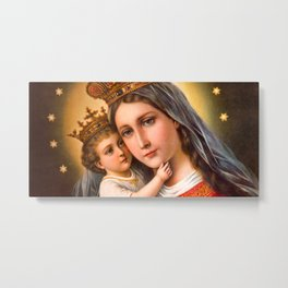 Mother Of God Holy Mary Art Piece Metal Print