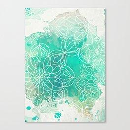 Mandala Inked Canvas Print