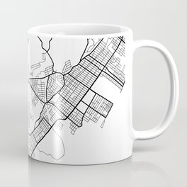 Staten Island New York Street Map Minimal Coffee Mug