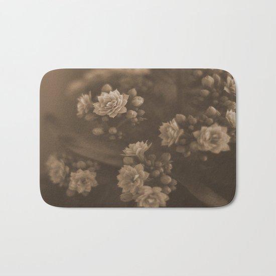 Sepia Blossom Bath Mat