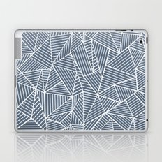 Ab Lines Navy and White Laptop & iPad Skin