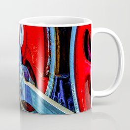 Old Steam Locomotive Eccentric And Red Wheels Of Iron Coffee Mug
