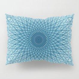 Stroked Quantum Mandala Blue 1 Pillow Sham