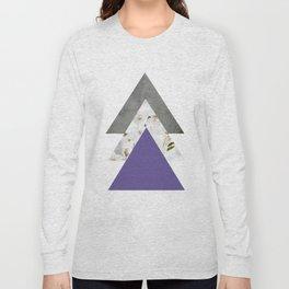 Ultra Violet Blossoms Arrows Long Sleeve T-shirt