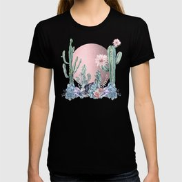 Desert Sun + Gemstones Rose Gold Pink Watercolor T-shirt