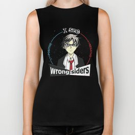 I See Wrong-Siders Biker Tank