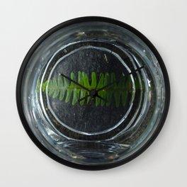 Fern in the Bowl Wall Clock