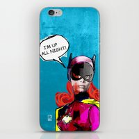 batgirl iPhone & iPod Skins featuring Batgirl by Ed Pires
