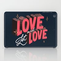 lesbian iPad Cases featuring Love & Let Love by Jillian Adel