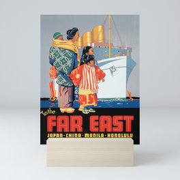 Vintage travel poster - White Empress Route Mini Art Print