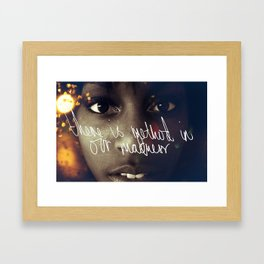 There is method in our madness Framed Art Print