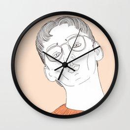 Pull orange Wall Clock