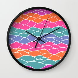 Multicolored Waves Wall Clock