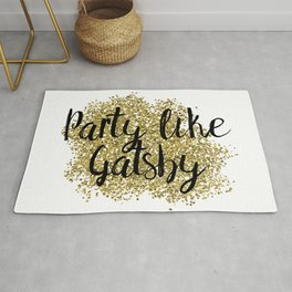 Party like Gatsby - golden jazz Rug