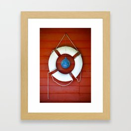 Life Buoy Framed Art Print
