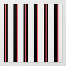 White black and pink lines Canvas Print
