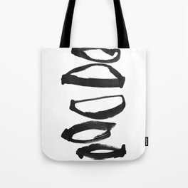 Abstract Shapes Black Ink Painting Tote Bag