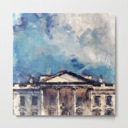 White House On A Sunny Day Metal Print