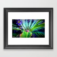 Tropical Plants and Flowers Framed Art Print