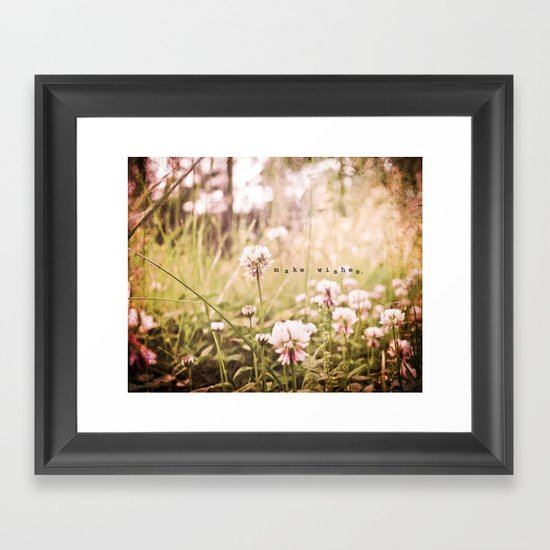Make Wishes Framed Art Print