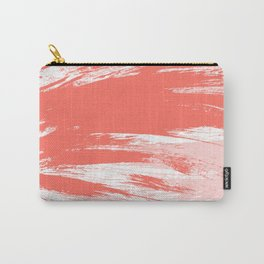 Coral abstract brush strokes Carry-All Pouch