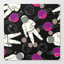 Cosmic Hipster Astronaut Canvas Print